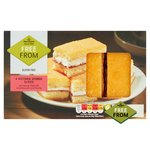 Morrisons Free From 4 Victoria Sponge Slices