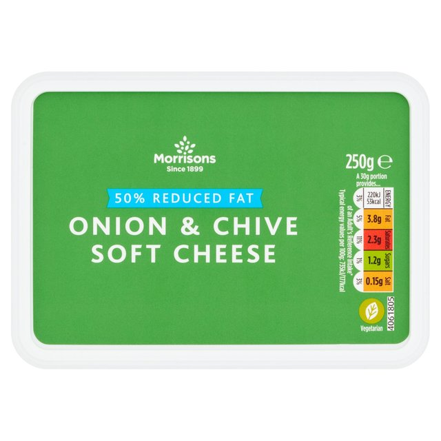 Morrisons 50% Reduced Fat Onion & Chive Soft Cheese