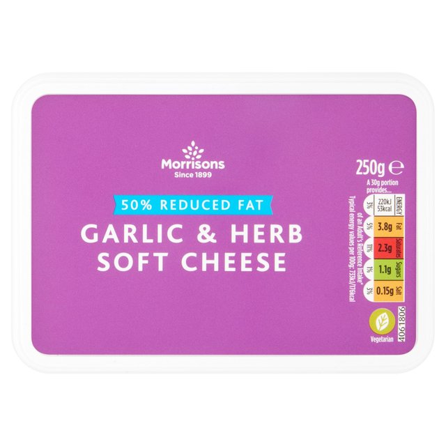 Morrisons 50% Reduced Fat Garlic & Herb Soft Cheese