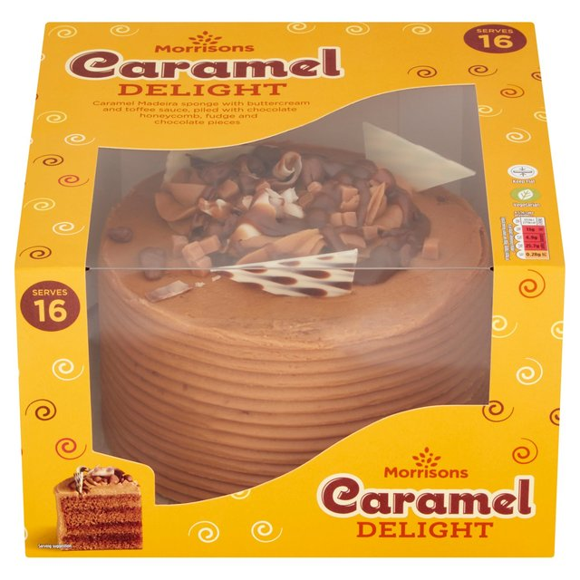 Morrisons Caramel Celebration Cake
