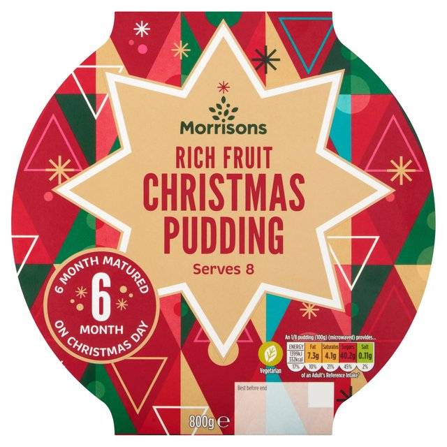 Morrisons Rich Fruit Christmas Pudding