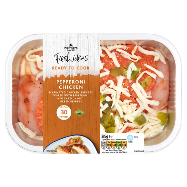 Morrisons Fresh Ideas Ready To Cook Pepperoni Chicken