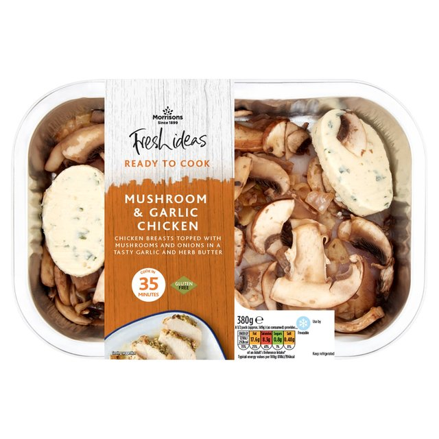Morrisons Fresh Ideas Ready To Cook Chicken With Mushroom & Garlic