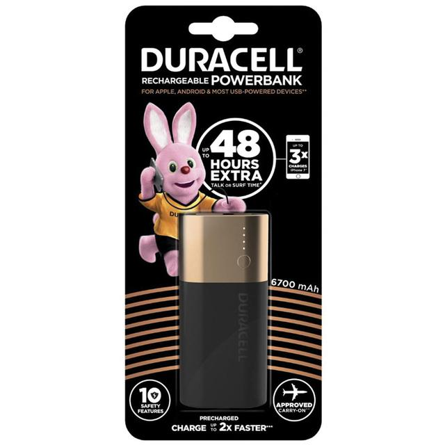 Duracell Rechargeable Powerbank 6700