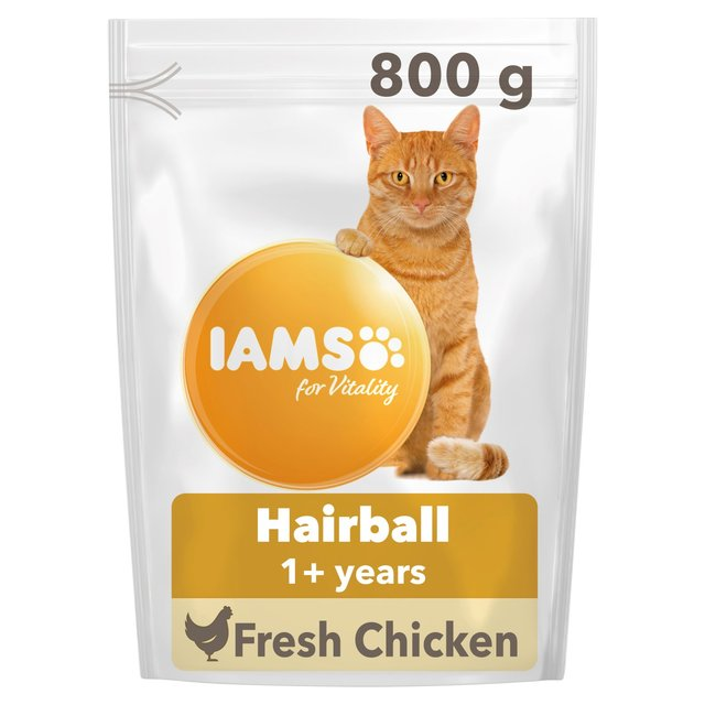 Iams For Vitality Hairball 1+ Years With Fresh Chicken