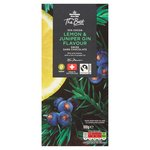 Morrisons The Best Lemon & Juniper Gin Flavour Dark Chocolate Bar