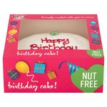 Just Love Food Co Nut Free Happy Birthday Cake