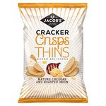 Jacob's Cracker Crisps Thins Mature Cheddar And Roasted Onion