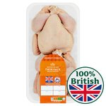 Morrisons 2 British Whole Chickens 1.05 - 1.25Kg Each