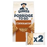 Quaker Oats Porridge To Go Squares Cinnamon
