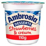 Ambrosia Desserts Strawberries & Cream