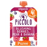 Piccolo Organic Blushing Berries, Pear & Banana 4 Months+
