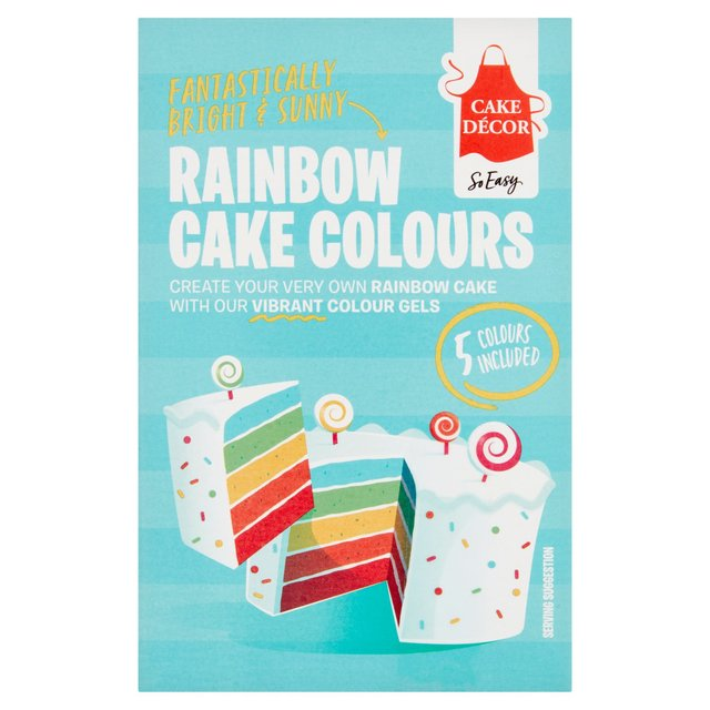 Morrisons: Cake Decor Rainbow Colour Icing Gels 50g(Product