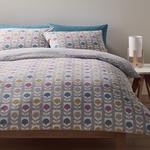 Morrisons Duvet Cover & Pillowcases Retro Tulip Geo Print