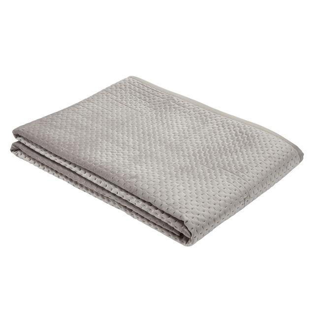 Morrisons Pinsonic Cushion Bed Spread Taupe