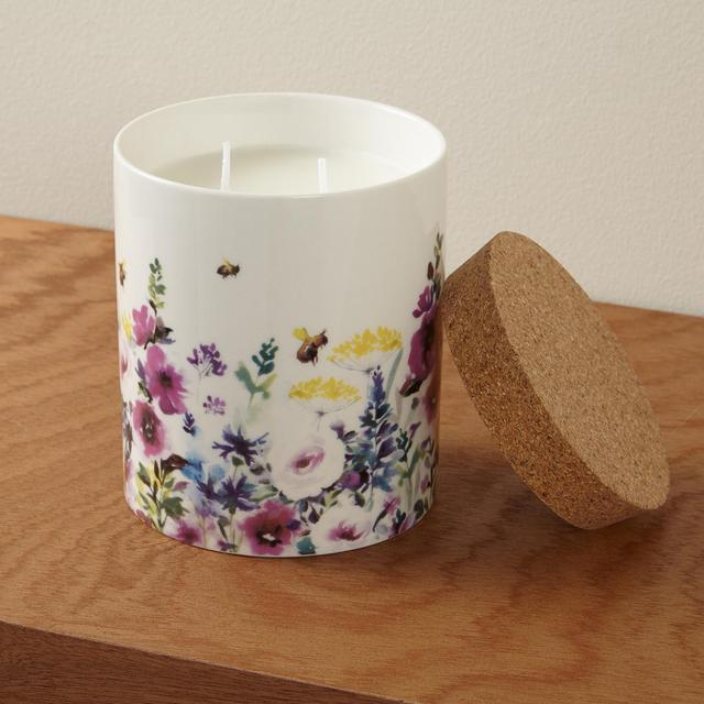 Morrisons Flourish Ceramic Waxfill Candle
