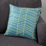 Morrisons Teal Chevron Cushion
