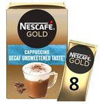 Nescafe Gold Cappuccino Decaf Unsweetened Taste 8 Mugs