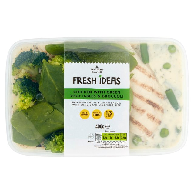 Morrisons Fresh Ideas Chicken, Green Vegetables & Broccoli