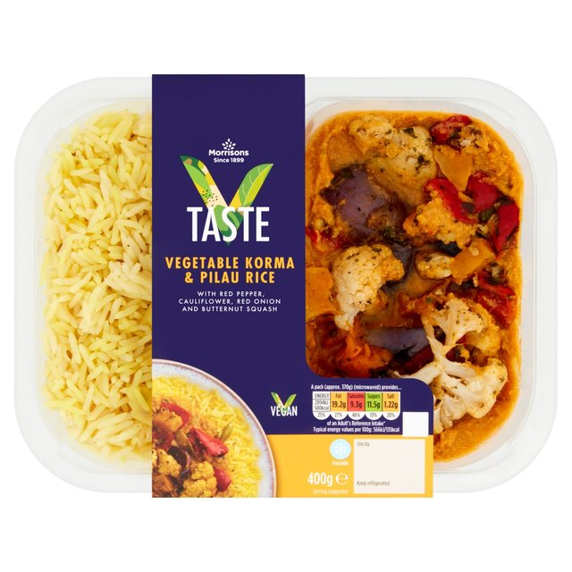 Morrisons Morrisons Vegetable Korma 400gproduct Information