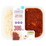 Morrisons Counted Three Bean Chilli & Rice
