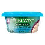 John West Fridge Pot No Drain Tuna Steak in Brine