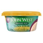 John West Fridge Pot Tuna Steak with a little Sunflower Oil