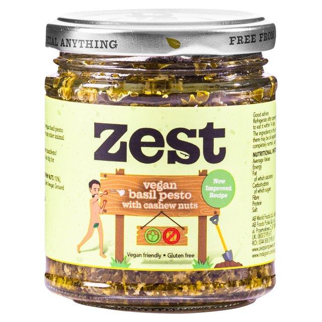 Zest Vegan Basil Pesto With Brazil Nuts, Cashew Nuts & Hazelnuts