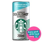 Starbucks No Added Sugar Double Shot Expresso