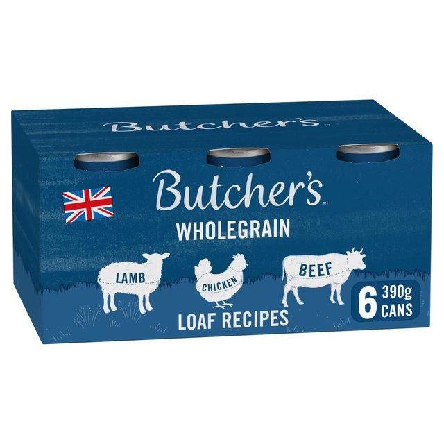 Butcher's Loaf Recipes Dog Food Tins 6x390g