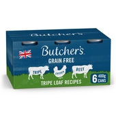 Butcher's Tripe Loaf Recipes Dog Food Tins 6x400g