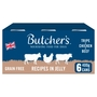 Butcher's Tripe Recipes in Jelly Dog Food Tins 6x400g