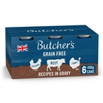 Butcher's Recipes in Gravy Dog Food Tins 6x400g