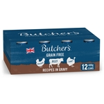Butcher's Recipes in Gravy Dog Food Tins 12x400g
