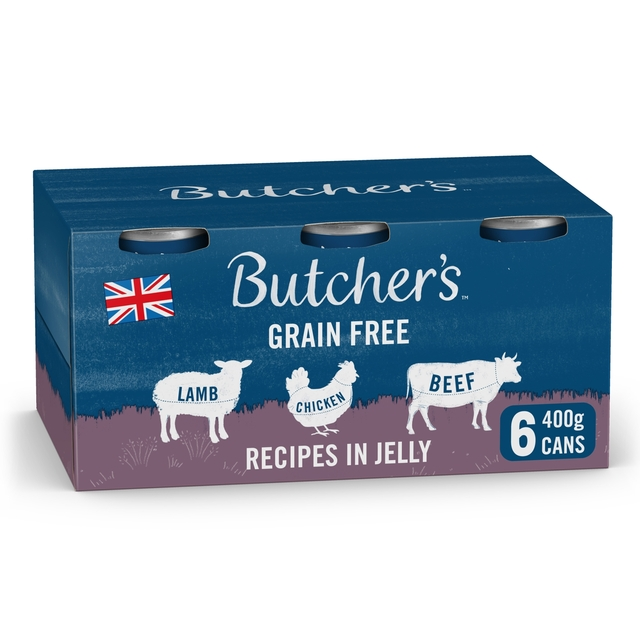 Butcher's Recipes in Jelly Dog Food Tins 6x400g