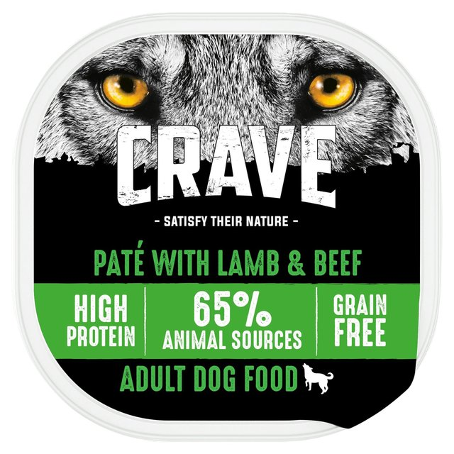 Crave Natural Grain Free Wet Dog Food Tray with Lamb & Beef in Loaf