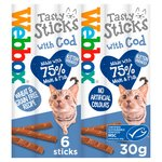 Webbox Cats Delight Tasty Sticks With Cod 6 Sticks