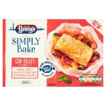 Young's Simply Bake Cod Fillet With Tomato, Garlic & Veg