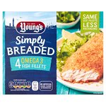 Young's Simply Breaded Omega 3 4 Large Fish Fillets