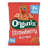 Organix Strawberry Organic Baby Finger Food Snack Rice Cakes