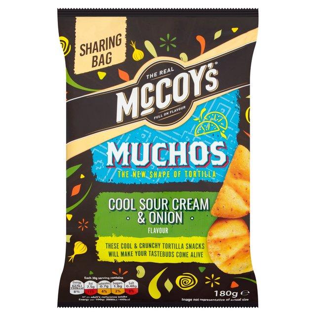 McCoy's Muchos Sour Cream & Onion Tortilla Crisps 180g