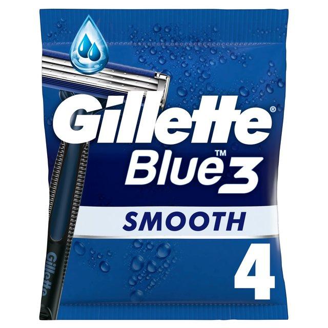 Gillette Blue 3 Disposable Razors 4 pack