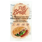 Dina 8 Wholemeal Mini Pitta Bread