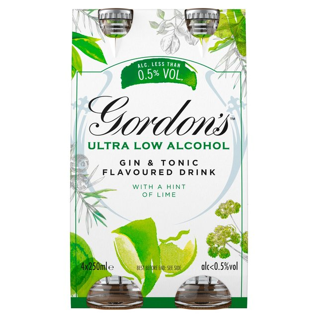 Gordon'S Ultra - Low Alcohol Gin & Tonic With A Hint Of Lime