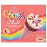 Morrisons Peach & Raspberry Ice Cream Cones