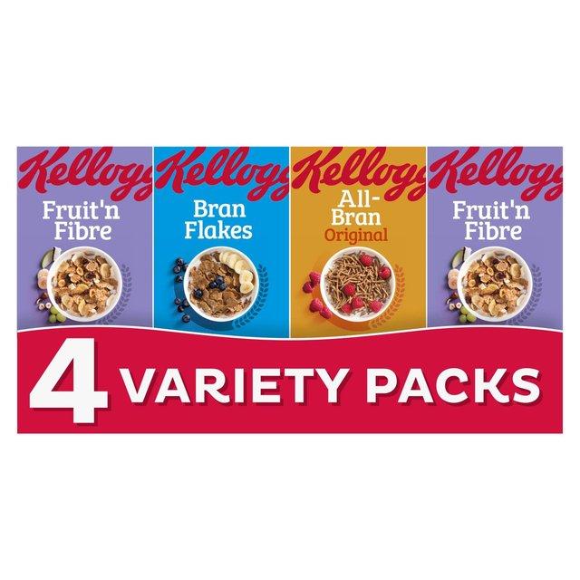 Morrisons: Kellogg's Fruit & Fibre 4 Variety Packs