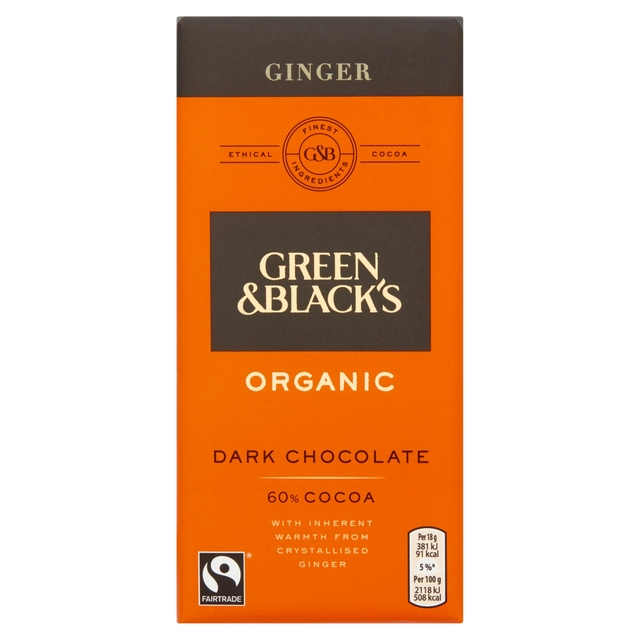 Green & Black's Dark Chocolate With Ginger