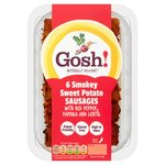 Gosh! Naturally Free-From 6 Smoky Sweet Potato & Red Pepper Sausages