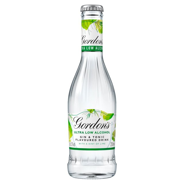Gordon'S Ultra - Low Alcohol Gin & Tonic With A Hint Of Lime 250Ml