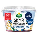 Arla Skyr Fruit & Oats Layered With Blueberries